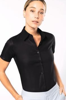 Dámská košile s krátkým rukávem v nežehlivé úpravě 82c6b8f8f3